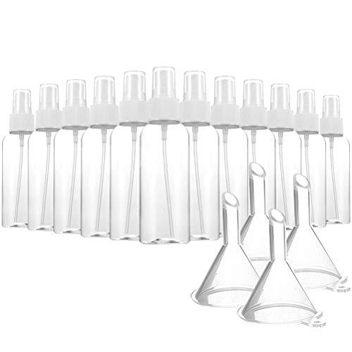 Lot de 6 vaporisateurs transparents en plastique - 80 ml Lot de 12