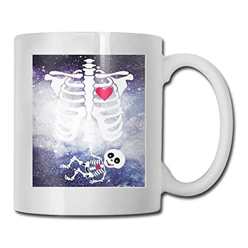 N\A Caja torcica de Esqueleto Embarazada con Disfraz de beb Tazas de caf Tazas, Regalos de cumpleaos para mam, pap, Esposa, Esposo, Hijas, Abuela, Amigo