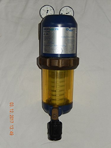 DRUFI max FR SYR-Armaturen Rückspülfilter 1 Zoll Duckminderer mit 2 Manometer