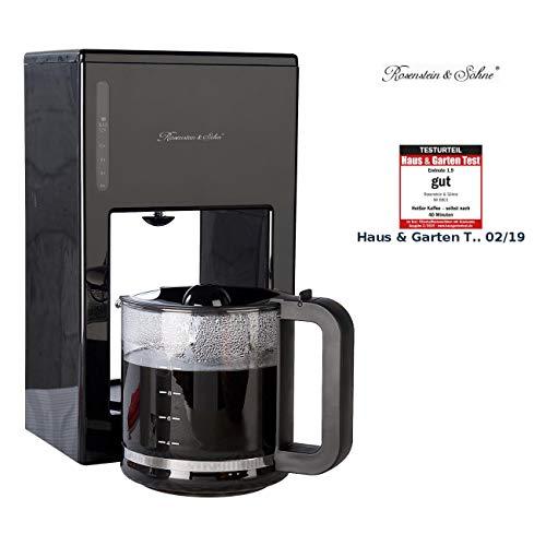 Rosenstein & Söhne Filter Kaffeemaschinen: Moderne Design-Kaffeemaschine für bis zu 12 Tassen, 1.000 Watt (Kaffeemaschine mit Glaskanne)