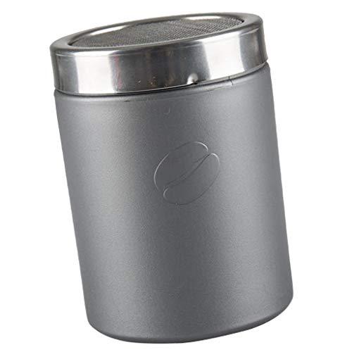PETSOLA Kaffee Shaker Zucker Mehl Sieb Edelstahl Kakaostreuer Puderzuckermühle - Grau