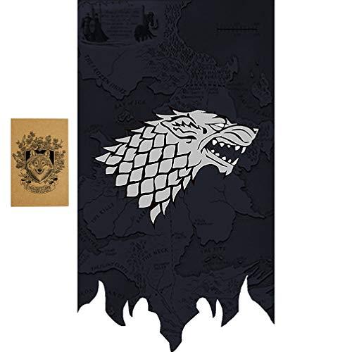ZCWOLTM Geburtstagsgeschenke für Tochter, [100X65CM], Game of Thrones Flaggen und Banner für Partydekoration