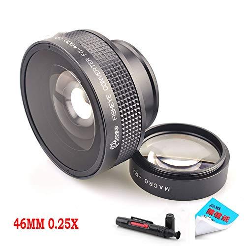 Pixco 46MM 0.25X Super Macro Wide Angle Fisheye Lens schroefdraad lens Voor Canon Fuji FX NIKON PENTAX DSLR SLR Camera met Lens cleaning papier & schoonmaak pen
