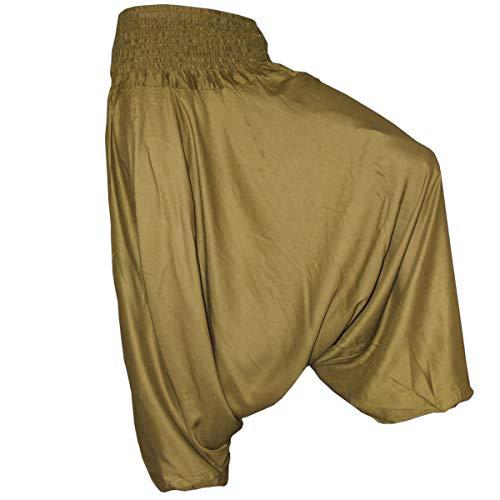 PANASIAM Aladin Pants Plain Olive-Green XL
