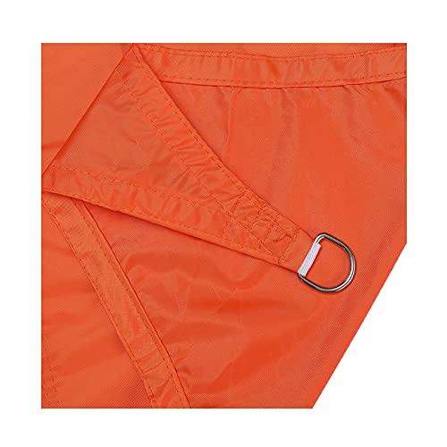 Toldos,Velas de Sombra Oxford,2.5*3m Toldo Vela Rectángulo Transpirable,Resistente y Protección Rayos UV para Exterior,Jardín,Terrazas,Resistente Impermeable,con Cuerdas Libres 4(Color:naranja)