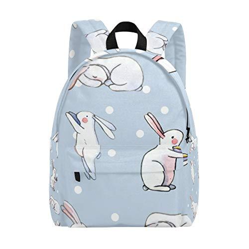 Cartoon-Rucksack mit niedlichem Kaninchenmotiv, für Teenager, Studenten, Mädchen und Frauen, für Hochschulen