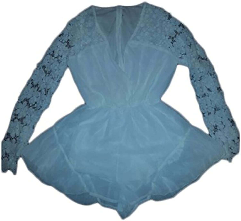 Belinda Lace Sleeve Playsuit Romper