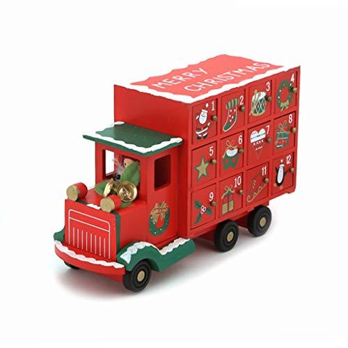 Adventskalenders Kerstkalender Aftelkalender Creatieve Vrachtwagen Decoratie Kalender Snoep Opbergdoos Familie Kerstmis Scene Layout Desktop Ornamenten Geschenken