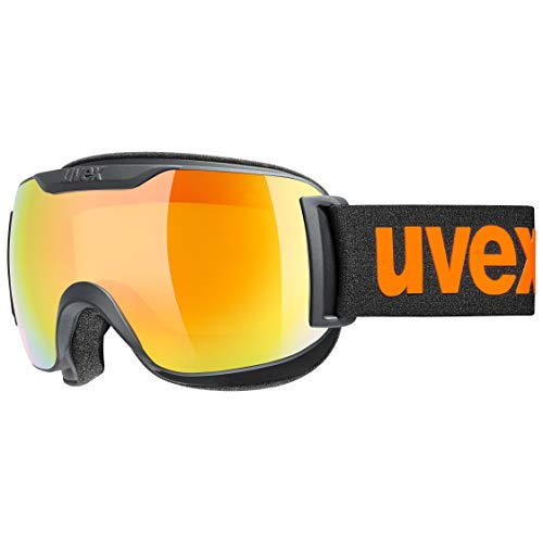 uvex Unisex-Adult, downhill 2000 S CV ski goggles, black mat, one size