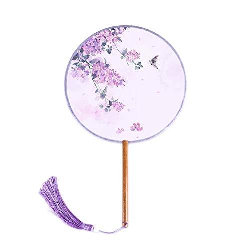 MOJIE Fotografía Exquisita Translúcido Borla Señora Fan Group Retro Atrezzo Accesorios De Joyería (Color : Purple)