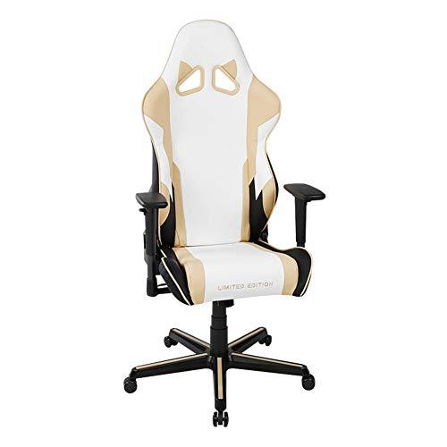 GLMAS Stühle, Bürostühle, Sessel,Verstellbarer Computerspielstuhl Hochlehner, PU-Leder Ergonomische Rückenlehne Drehbarer Sessellift, Leichtmetallfüße Silent Pu Wheels-Champagne