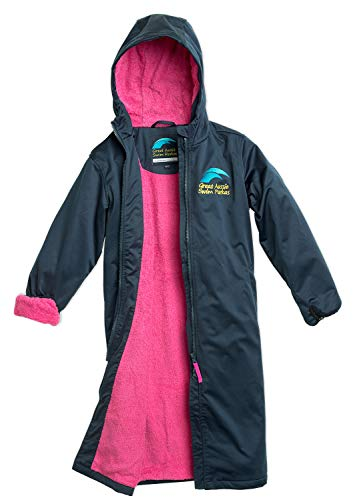Great Aussie Swim Parkas (Swim Robe/Swim Jacket (Youth 10, Navy/Pink) …