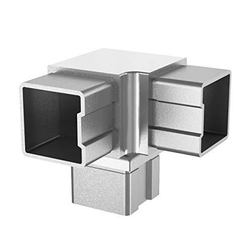 Raccord rectangulaire en acier inoxydable 40 x 40 4304.040.