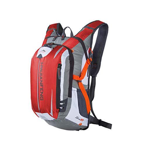 HWJIANFENG Bike Backpack,outdoor sport backpack Climbing Hiking Running Bike Cycling knapsack Ultralight Bicycle Water Bag Waterproof Hydration rucksack.18L RED