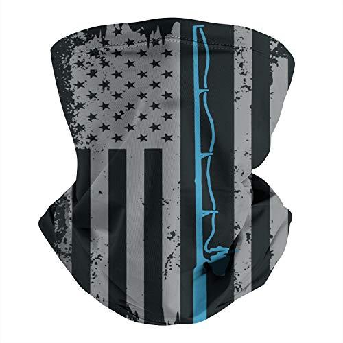 American Fish Flag Face Mask Bandana Neck Gaiter,...