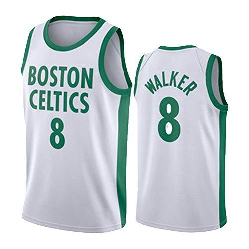 BJZX Celtics #0 Walker, color blanco, camiseta sin mangas, chaleco suelto, suave, secado rápido, antiarrugas, fitness, baloncesto, unisex, XL