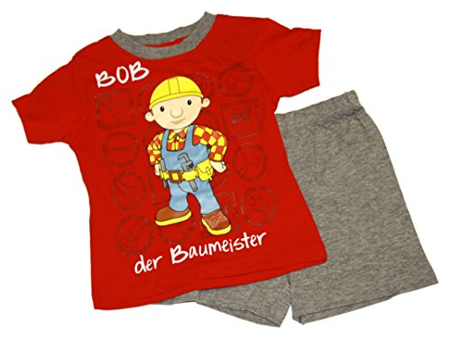 Bob der Baumeister /Bob The Builder Shorty Set Pyjama - rot (128)