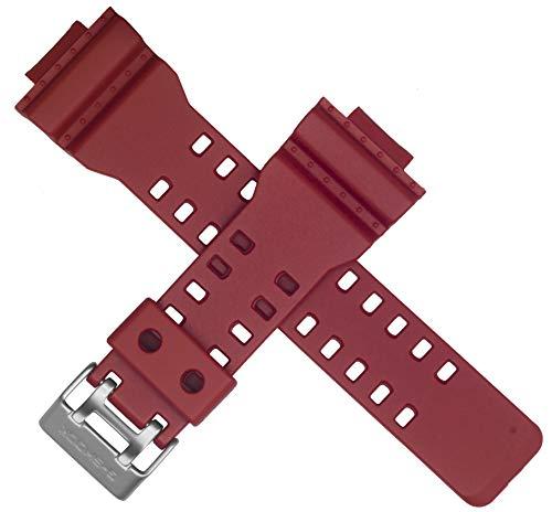 Correa de reloj Casio para GA-100C GA-110AC GA 100C 110AC 100 110 ROJO