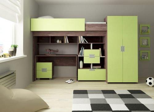 Hochbett SchönBerg Farbe Lime