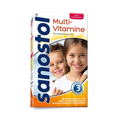 Sanostol ohne Zuckerzusatz: Multi-Vitamine für Kinder ab 3 Jahren und Erwachsene, unterstützt ein gesundes Immunsystem mit den Vitaminen A und D, 230ml