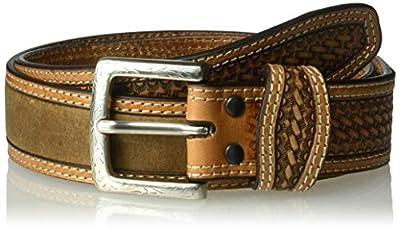 Ariat Unisex-Adult's Basket Billet Double Stitch Edge Belt, brown, 38