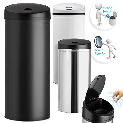 Kesser® Sensor Mülleimer ✓ Automatik ✓ Abfalleimer ✓ Abfall | Edelstahl | Farbe: SCHWARZ | Größe: 30 L