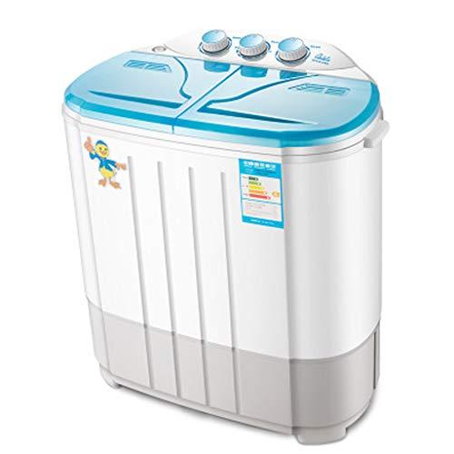 Mini lavadora portátil de tinas dobles Lavadora y secadora de ropa Combo compacto para acampar Dormitorios Apartamentos Habitaciones universitarias 4.5 KG Capacidad total 2.5 KG...