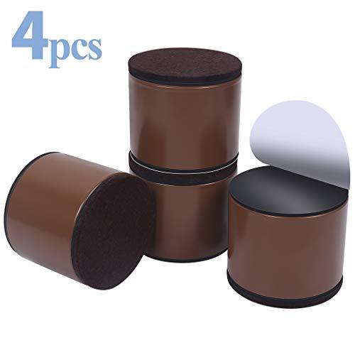 Elevadores de muebles de 5 cm, elevadores de cama de acero al carbono, Ezprotekt de diámetro de 6cm, autoadhesivos, resistentes, añade 5cm de altura a las camas y sofás