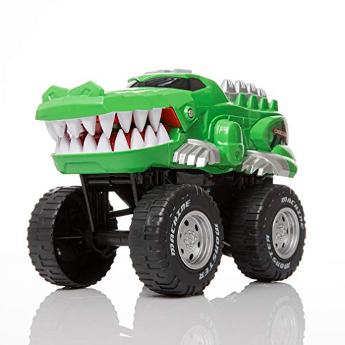 Rugged Racers Monster Trucks for Boys and Girls – Toy Monster Trucks – Crocodile – Battery Operated Mouth Opening Design – Revving Engine with Sounds and Lights