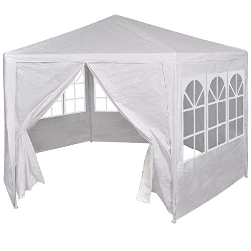 Tidyard Marquee with 6 Side Walls Party Tent Outdoor Garden Wedding Canopy White 2x2 m