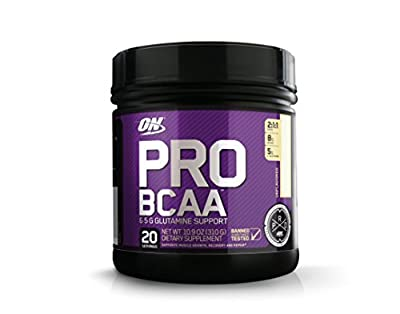 Optimum Nutrition Pro BCAA Powder with Glutamine, Unflavored, Keto Friendly Branched Chain Amino Acids, 20 Servings, 10.9 Ounce (Pack of 1) (Packaging May Vary)