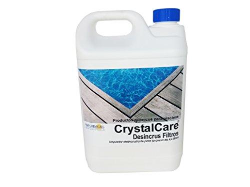 CrystalCare Desincrustante filtros Eliminar depósitos calcáreos y Suciedad. Botella 5 LTS