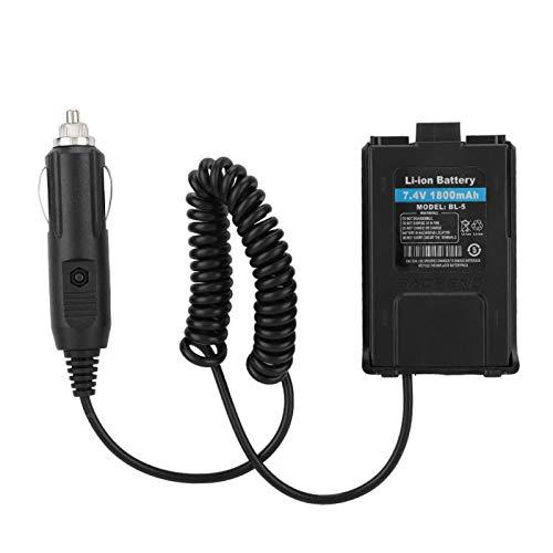 Cargador de batería Walkie Talkie Adaptador de Cargador de Coche de 12 V para Radio Baofeng UV-5R Eliminador de batería de Coche Walkie-Talkie