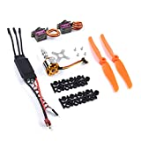 Readytosky A2212 2200KV Brushless Motor+40A ESC 2-3S+MG90S 9g Metal Gear Servo+6035 Prop for RC Fixed Wing Plane Helicopter