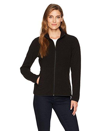 Amazon Essentials Women's Classic Fit Long-Sleeve Full-Zip Polar Soft Fleece Jacket, Black, Large