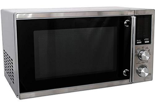 Deski Edelstahl Mikrowelle mit Display Grillfunktion 900 W