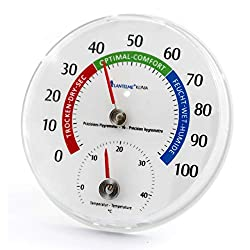 Lantelme Combi Thermometer Hygrometer Analog Humidity Display Round 11,5 cm 4127