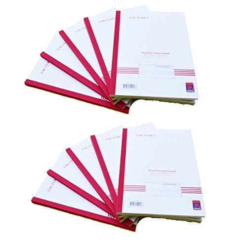 Manifold facturen met btw. Triple, A4, 10 stuks, afmetingen: 210 x 297 mm / 21 x 29,7 cm, folio, 50 vellen.