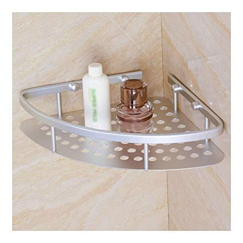 ZhanMaGS Estante de baño de ducha esquinera cesta de baño estante de cocina estante de aluminio inoxidable triángulo plateado 1013 (tamaño: 20 cm)