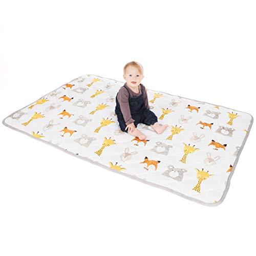 Lionhouse Rutschfeste gepolsterte Babyspieldecke | 100% Baumwolloberfläche | 150 x 100 cm | Waschmaschinenfest