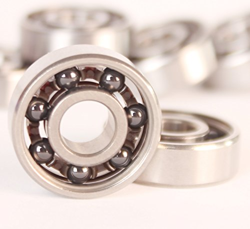 AnMiao Star 608 Ceramic Ball Bearing ,High Precision Rating,Long Lasting,Pack of 2(Black Ball)