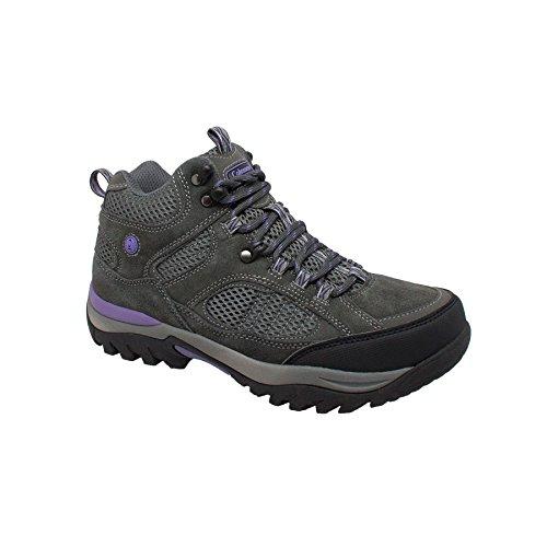 Coleman Women's VAIL Grey Suede Hi Cut Soft Toe Hiking Hiker Boots. VAIL-10D