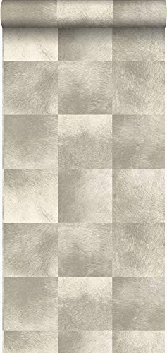 behang dierenhuid structuur beige - 347323 - van Origin - luxury wallcoverings