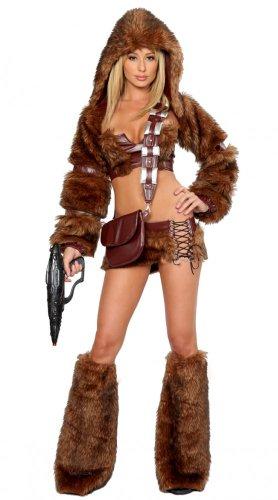 shoperama Superflauschiges Chewbacca Damen Kostüm SCI-FI Trooper Gr. S Fell Pelz Kriegerin