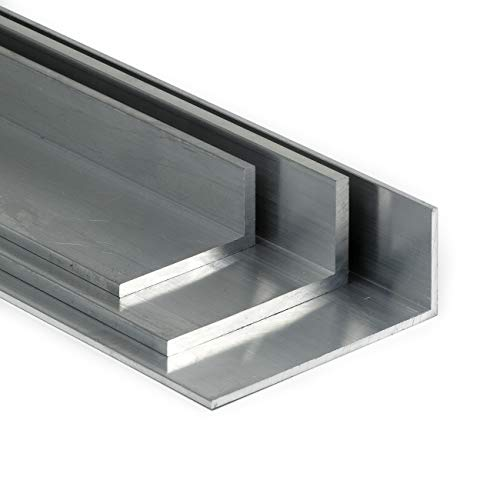 Aluminium Winkel AlMgSi05 ungleichschenklig | BxHxS 50x10x2mm L:2000mm (200cm)