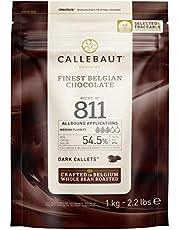 Callebot Receipe Nr 811 - Enkeldeurs Callets, Zachtbitterchocolade, 54,5% Cacao, 811-E1-U68 ,1Kg, Donkerbruin