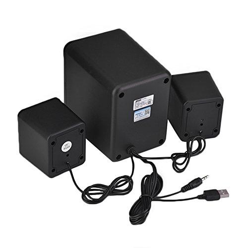 SADA Altavoces Multimedia con Surround Subwoofer Computer Speakers System para PC/Portátiles/Smart Phone,...