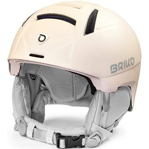 Briko Perla Casco de esquí/Snow, Mujeres, Matt Quartz Pearl-White Antique, 56-58 cm