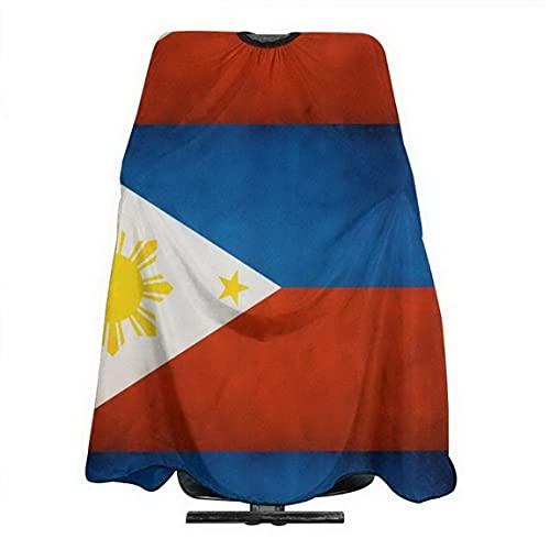 Filipino Flag Haircut Apron Salon Cape Apron Barber Cape Unisex Hairdressers Shawl 55x66 In