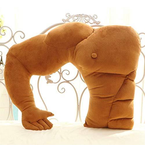 FDNFG Cojines para Sillas Grande Gracioso músculo Novio Brazo Suave Tiro Almohada Cuerpo Abrazo Novia cojín Almohada Regalo de la Novia para Dormir Dormir Cojines para Sillas (Color : Right Arm)